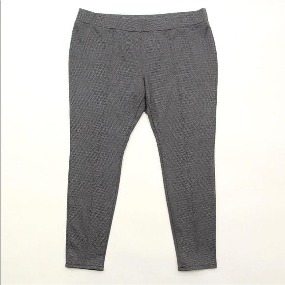 16c55b0822c Ava   Viv Pants - Ava   Viv Pants 2X Gray Black Skinny Ponte Knit